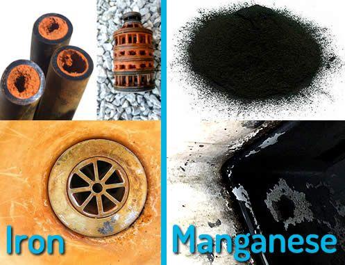 Liên quan đến sắt và mangan trong nước